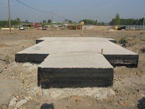 Плитная основа под баню