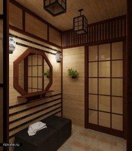 Предбанник в японской бане