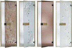 Стеклянные двери для парной
