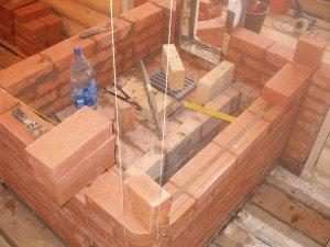 Строительство печной подошвы
