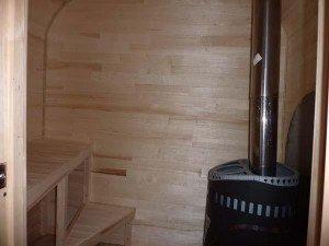 Печь-малютка в передвижной бане