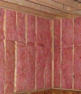 Теплоизоляция стен парильни