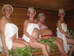 Беременность - не помеха для визита в баню