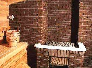 Открытая печь-каменка