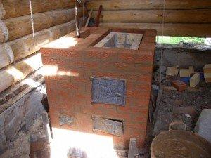 Строительство кирпичной банной каменки