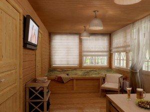 Уютная комната отдыха в бане