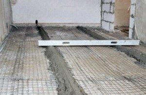 Обустройство бетонного банного пола