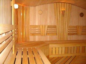 Оригинальная внутренняя отделка бани