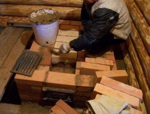 Строительство печи-каменки для русской бани