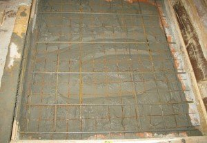 Монолитный фундамент кирпичной каменки