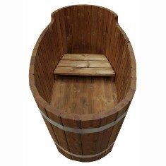 Самодельная деревянная ванна