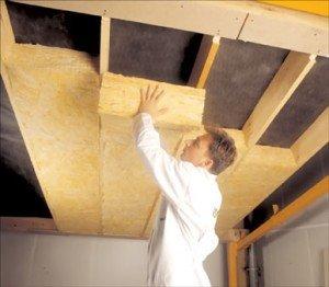 Утепление банного потолка минеральной ватой