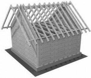 схема каркаса постройки ломаной крыши - Всемирная схемотехника.