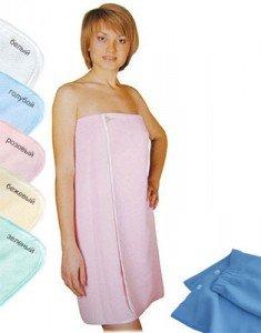 Удобный банный халат