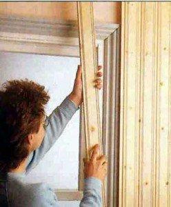 Как выполняется крепеж вагонки к стене и потолку бани?