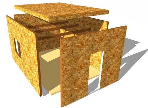Строить панельную баню легко