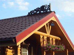 Черепичная двускатная крыша