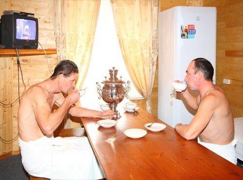 Чаепитие усиливает пользу парилки