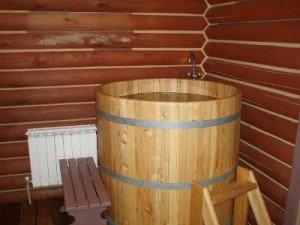Деревянная купальня для парильни