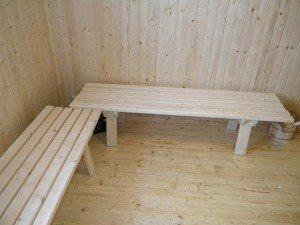 Стандартные скамейки для бани