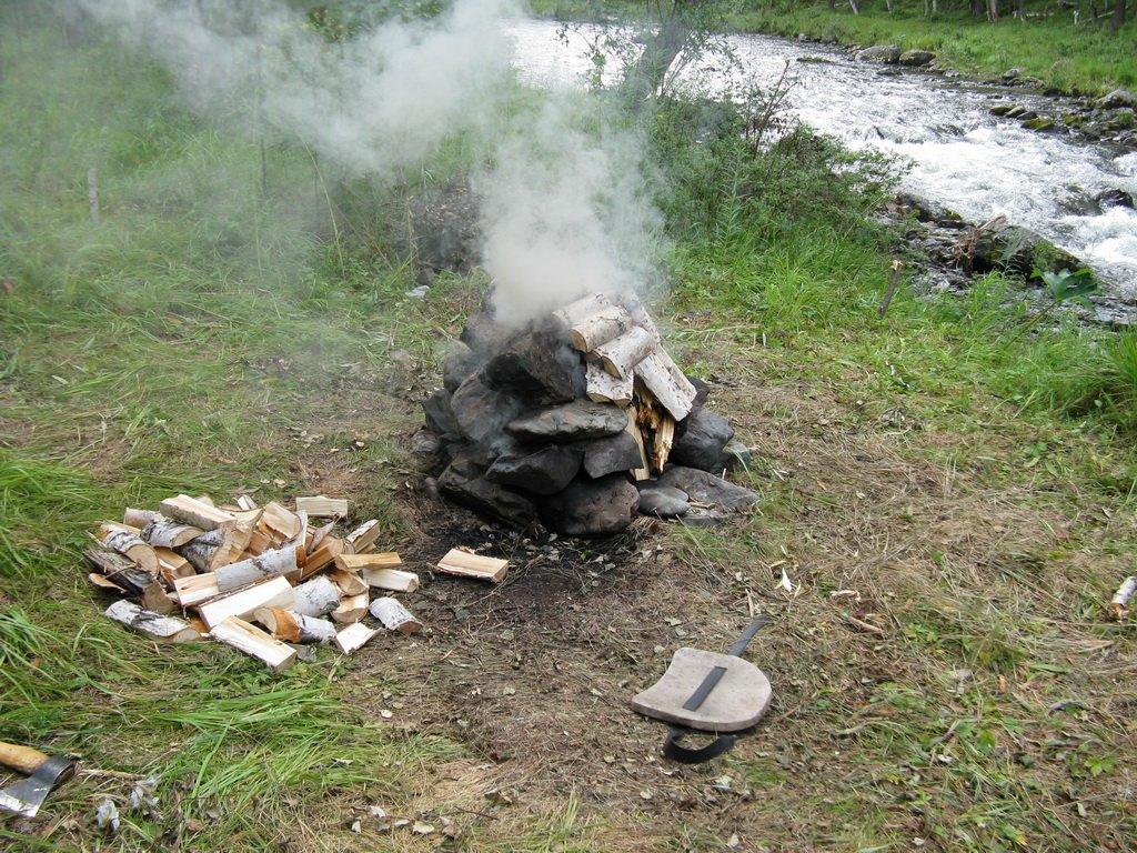 Печь для мобильной бани
