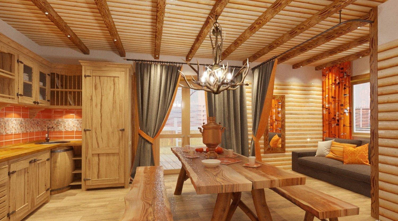 Современный дизайн бани с комнатой отдыха