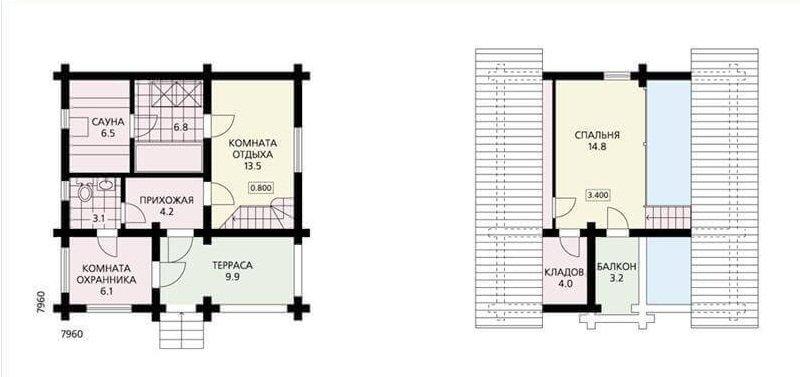 Двухэтажная баня