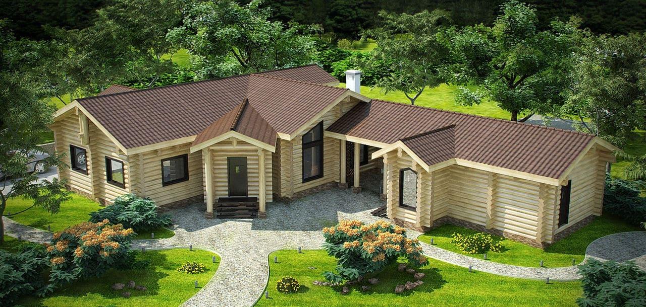 Совмещенные жилой дом и баня